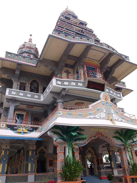 Catholic church in Hindu style