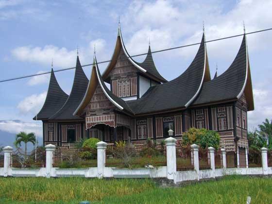 Beautiful Minang house at Bukittinggi