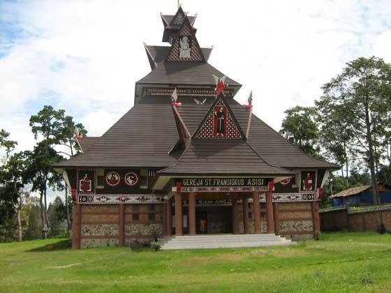 Catholic Church in Karo Style at Berastagi