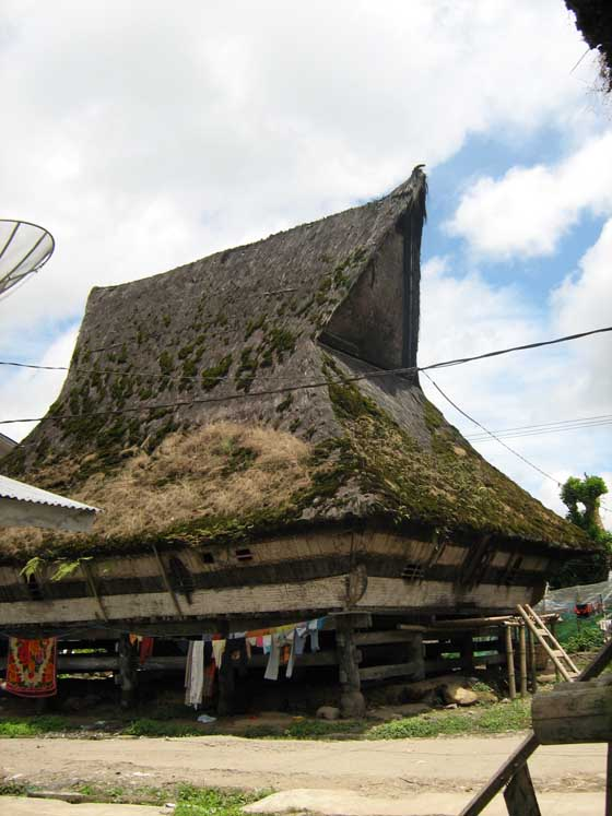 Traditional Karo house at the village of Lingga, near Berastagi.