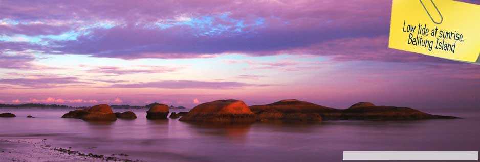 Low tide at sunrise, Belitung Island - Indonesia