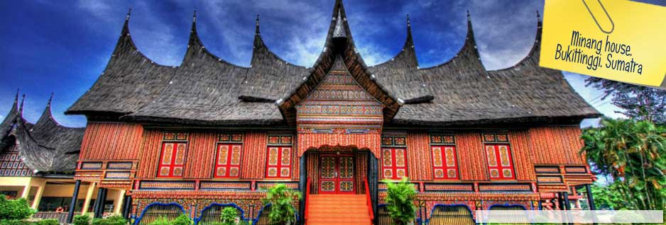 Traditional Minang house, Bukittinggi, Sumatra, Indonesia