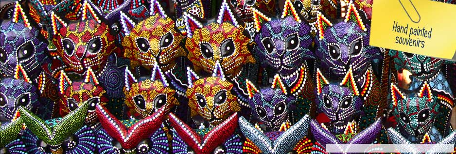 Hand painted souvenirs - Indonesia