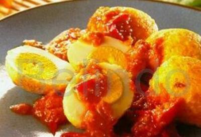 Recipe - Sambal goreng telor - Eggs in red pepper sauce