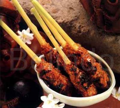 Recipe - Sateh lilit - Minced Balinese seafood satay
