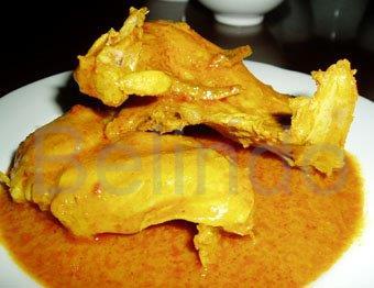 Recipe - Kalio ayam - Chicken in spicy coconut gravy